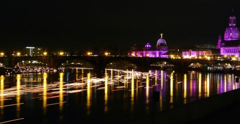 Kirchentag evening worship lights 3