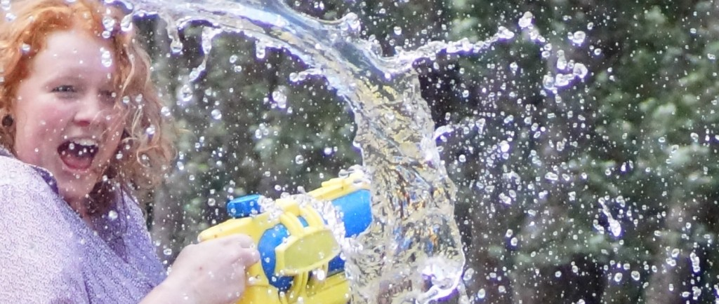 christmas water fight